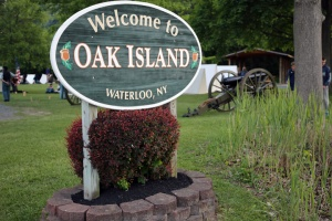 Oak Island Sign