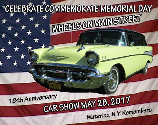 Wheels On Main Street Car Show Waterloo NY - Car show dash plaque display