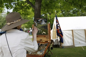4th annual plein air painting-Memorial Day in Waterloo